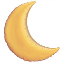 "GOLD CRESCENT MOON 9"" FLAT GQ"