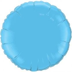 "PALE BLUE ROUND 18"" FLAT Q"