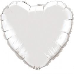 "SILVER HEART 18"" FLAT Q"