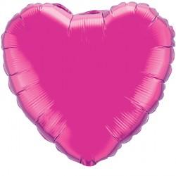 "MAGENTA HEART 18"" FLAT Q"