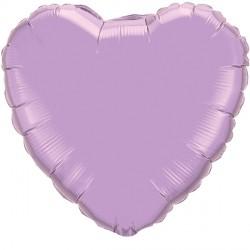 "PEARL LAVENDER HEART 4"" FLAT Q"