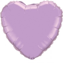 "PEARL LAVENDER HEART 18"" FLAT Q"