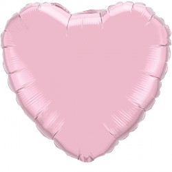 """PEARL PINK HEART 9"""" FLAT Q"""
