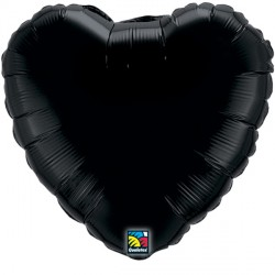 "ONYX BLACK HEART 18"" FLAT Q"