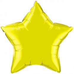 "CITRINE YELLOW STAR 4"" FLAT Q"