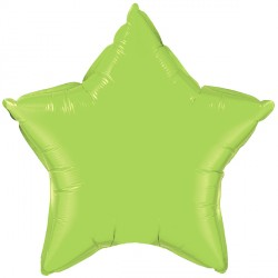 "LIME GREEN STAR 20"" FLAT Q"