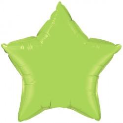 "LIME GREEN STAR 36"" JUMBO FLAT Q"