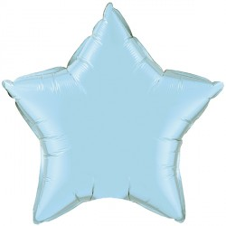 """PEARL LIGHT BLUE STAR 9"""" FLAT Q GY"""