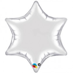 "SILVER 6-POINT STAR 22"" FLAT"