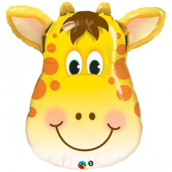 "JOLLY GIRAFFE 14"" MINI SHAPE INFLATED WITH CUP & STICK"