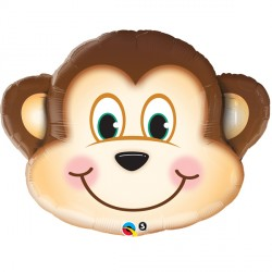 "MISCHIEVOUS MONKEY 14"" MINI SHAPE INFLATED WITH CUP & STICK"