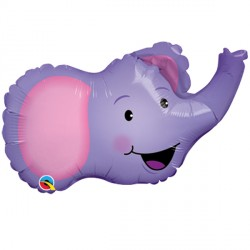 "ELATED ELEPHANT 14"" MINI SHAPE INFLATED WITH CUP & STICK"