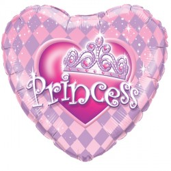 "PRINCESS TIARA 9"" INFLATED WITH CUP & STICK"