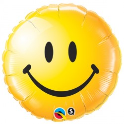 "SMILEY FACE YELLOW 18"" PKT"