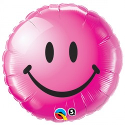 "SMILEY FACE WILD BERRY 18"" PKT"