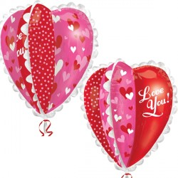 LOVE YOU MULTI PANEL HEART ULTRA SHAPE P40 PKT