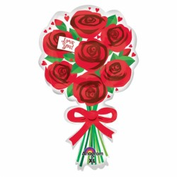 LOVE YOU RED ROSES SHAPE P30 PKT