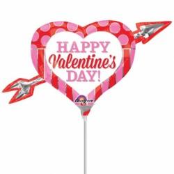 Pink Red Arrow Happy Valentine S Day Mini Shape A30 Flat Balancebest