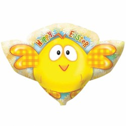 HAPPY EASTER CHICK SHAPE P35 PKT