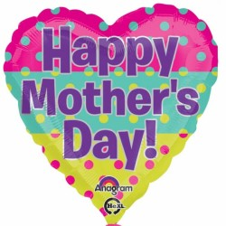 HAPPY MOTHER'S DAY DOTS STANDARD S40 PKT