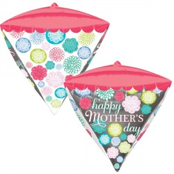 "FLORAL PATTERN HAPPY MOTHER'S DAY DIAMONDZ G20 PKT (15"" x 17"")"