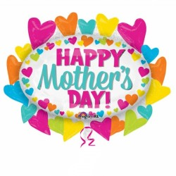 HAPPY MOTHER'S DAY HEARTS MARQUEE SHAPE P30 PKT