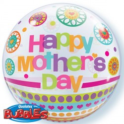 "MOTHER'S DAY DOTS & PATTERNS 22"" SINGLE BUBBLE"