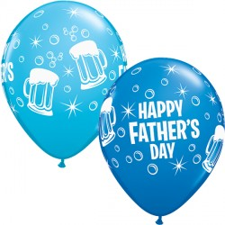 "FATHER'S DAY BEER MUG 11"" ROBIN'S EGG BLUE & DARK BLUE (25CT)"