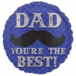 DAPPER DAD MOUSTACHE STANDARD S40 PKT