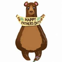 BEAR HAPPY FATHER'S DAY SHAPE P35 PKT