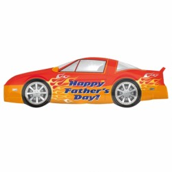 "SPORTS CAR HAPPY FATHER'S DAY SHAPE P35 PKT (41"" x 13"")"