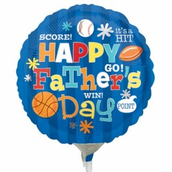 "FATHER'S DAY SPORTS 9"" A15 INFLATED WITH CUP & STICK"