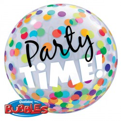"PARTY TIME! COLOURFUL DOTS 22"" SINGLE BUBBLE"