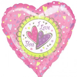 "PASTEL I LOVE YOU 18"" SALE"