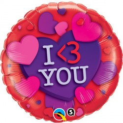 "I 3 YOU HEARTS 18"" SALE"