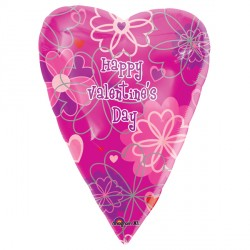 "HAPPY VALENTINE'S DAY FLOWER PATTERN 18"" SALE"