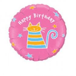 "FLUTTERBYS BIRTHDAY CAT 18"" SALE"