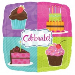 "CELEBRATE WITH CAKE 18"" SALE"