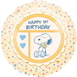 "PEANUTS 1ST BIRTHDAY 18"" SALE"
