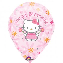 "HELLO KITTY BIRTHDAY FLORAL 18"" SALE"