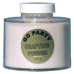 WHITE IRIDESCENT CRAFTING POWDER