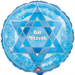 "SHIMMERING STAR BAR MITZVAH 18"" SALE"
