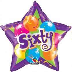 "SPARKLING BALLOONS SIXTY 18"" SALE"