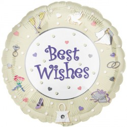 "WEDDING DAY BEST WISHES 18"" SALE"