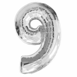 SILVER NUMBER 9 SHAPE SALE