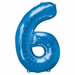BLUE NUMBER 6 SHAPE SALE