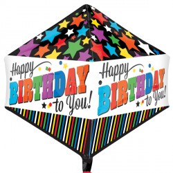 HAPPY BIRTHDAY STRIPES & STARS ANGLEZ G20 PKT