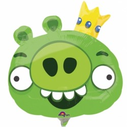 ANGRY BIRDS KING PIG MINI SHAPE A30 INFLATED WITH CUP & STICK