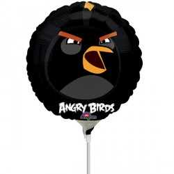 "ANGRY BIRDS BLACK BIRD 9"" A20 INFLATED WITH CUP & STICK"