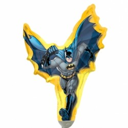 BATMAN ACTION MINI SHAPE A30 INFLATED WITH CUP & STICK